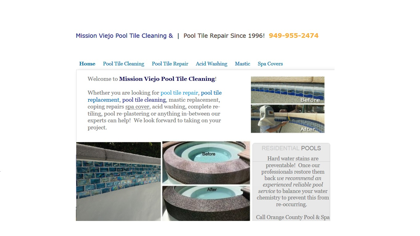 Mission Viejo Pool Tile Cleaning