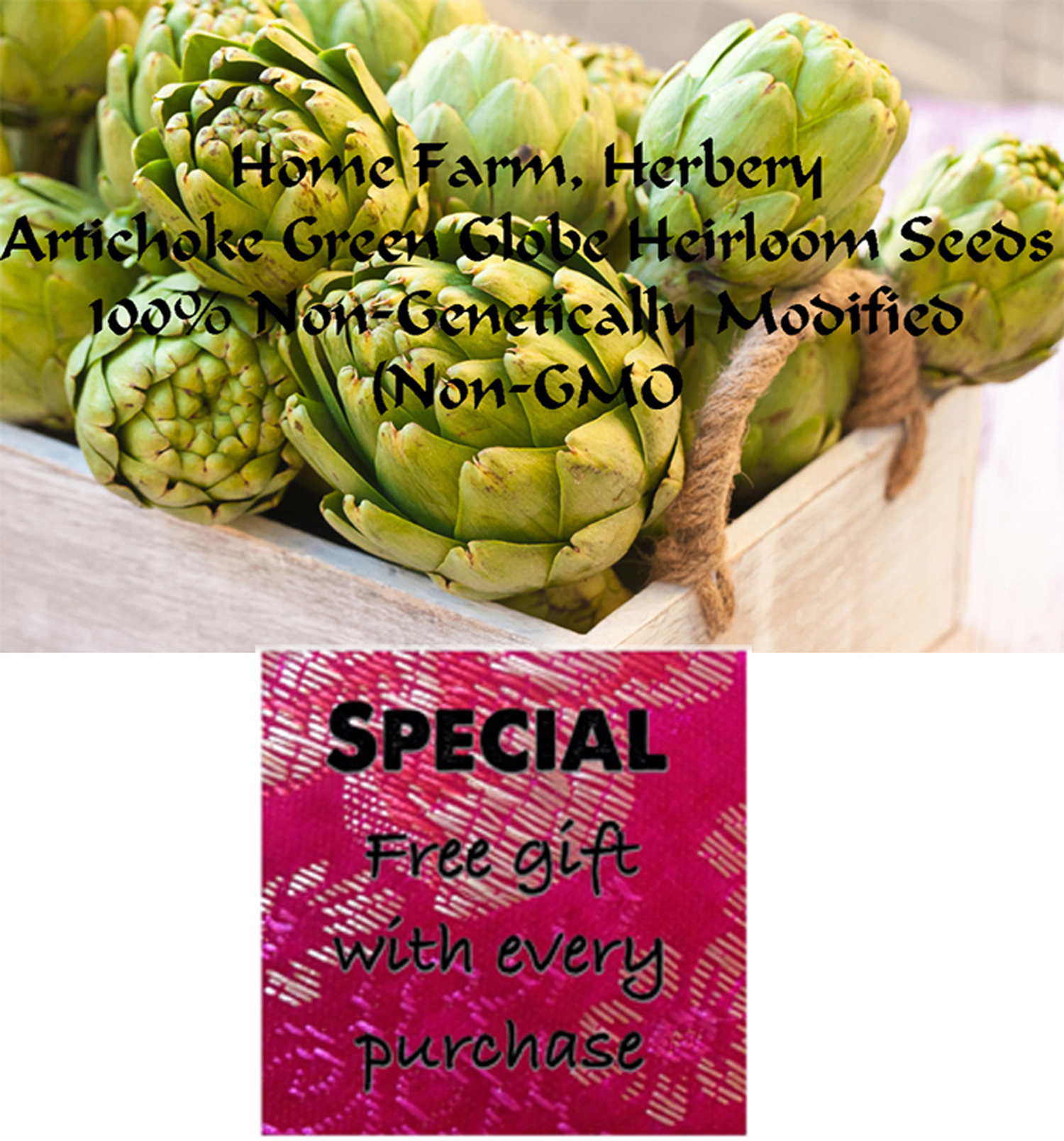 Order the best heirloom Artichoke Green Globe seeds now and get a free gift