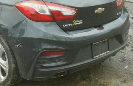Bumper assembly (rear) of Chevy cruze hatchback 2017
