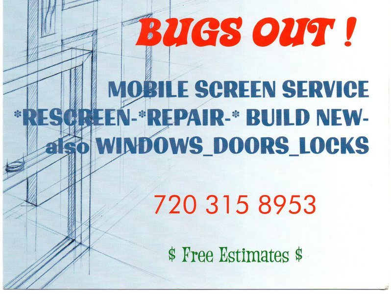 Bugs Out Screens