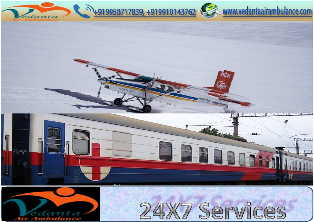 Vedanta Air Ambulance Service in Mumbai with Supportive Equipments