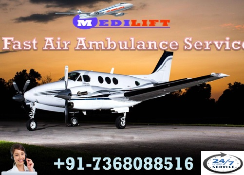 Secure Air Ambulance Service in Pondicherry with Medical Facility