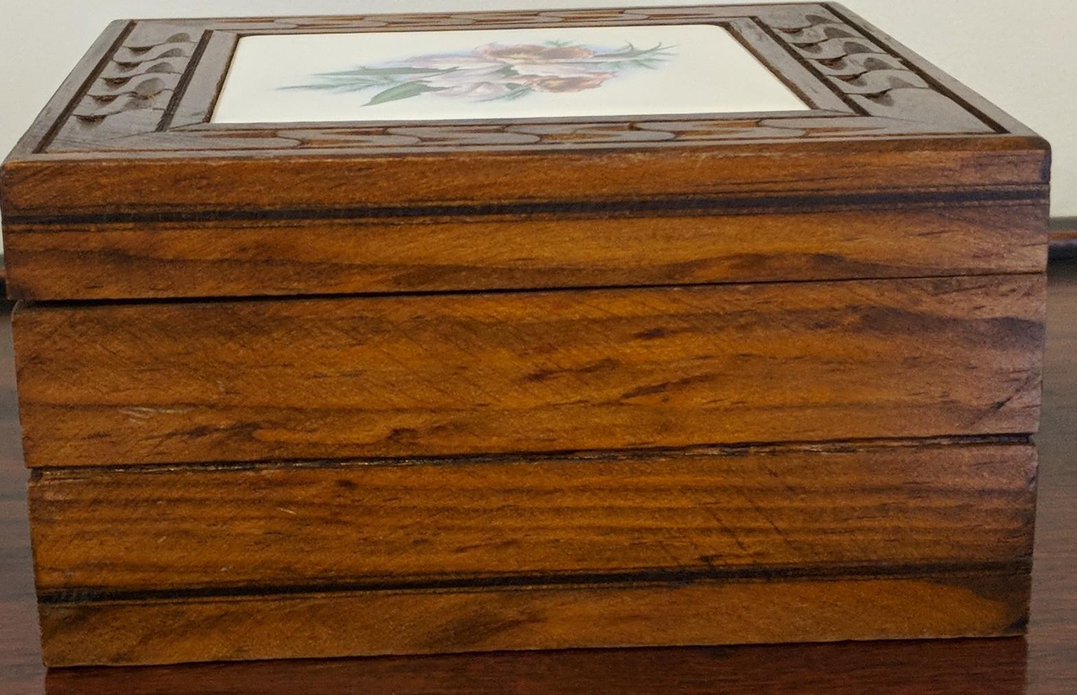 Vintage Oak Wood Box