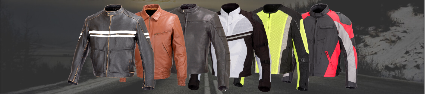 Motorcycle Jackets - Leather, Textile, Mesh Biker Jackets