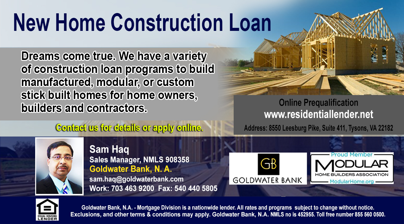 NATIONWIDE NEW HOME CONSTRUCTION LOANS