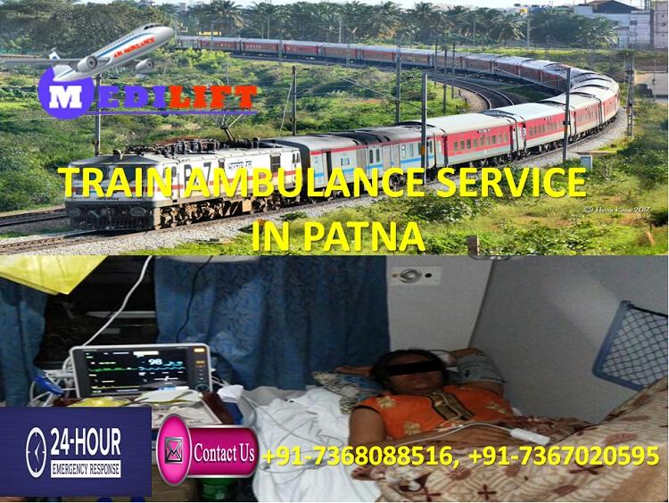 Avail Life Saving Trauma Train Ambulance Service in Patna by Medilift