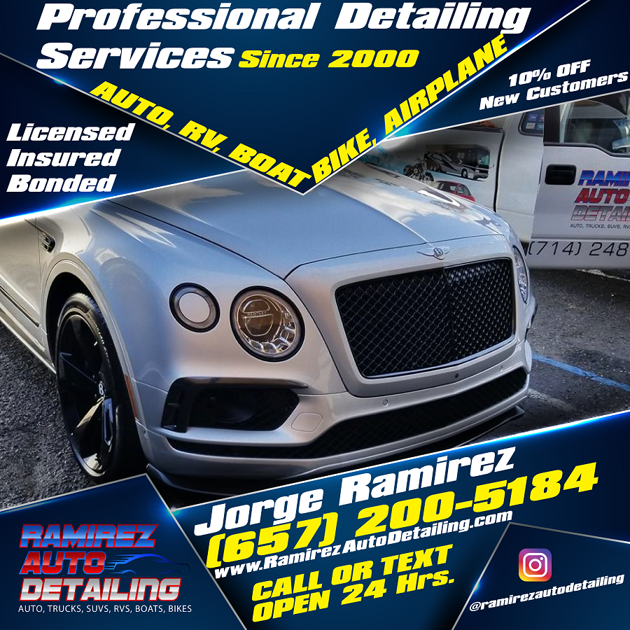 Boat Detailing Services - Licensed and Insured - Ramirez Auto Detailing