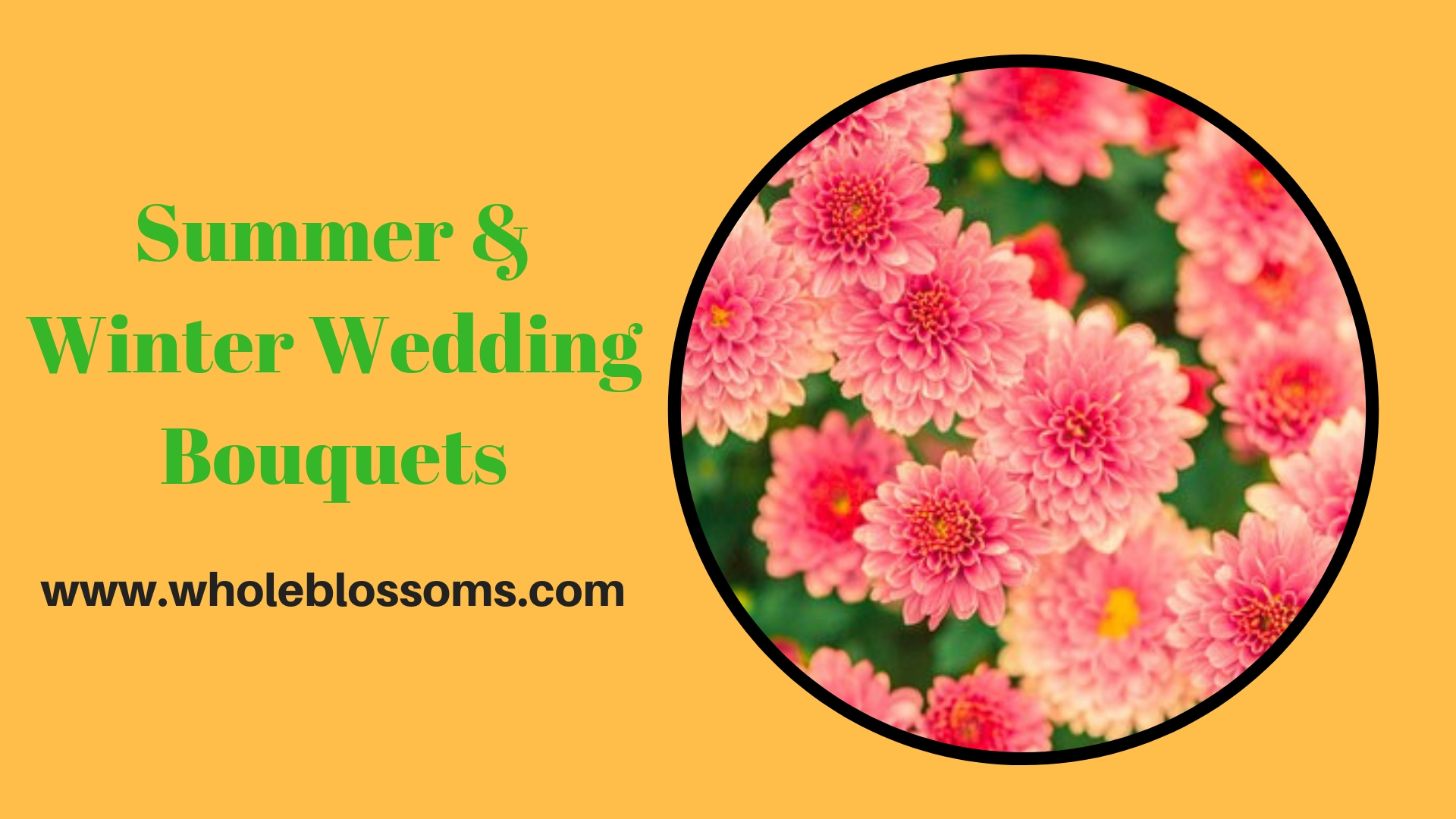 Get the Exhaustive Range of Summer and Winter Wedding Bouquets from Whole Blossoms