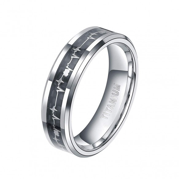 Big Sale 75% OFF Titanium Heartbeat Ring