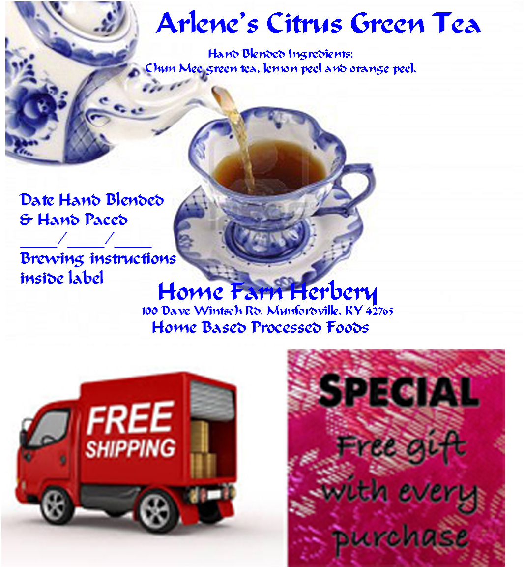 Order Arlene's Citrus Green Tea now and receives a free gift plus free shipping.