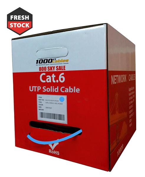 Cat6 CMP Plenum 1000ft Ethernet Network Cable