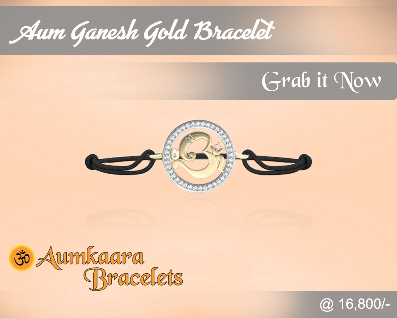 Aum Ganesh Gold Bracelet