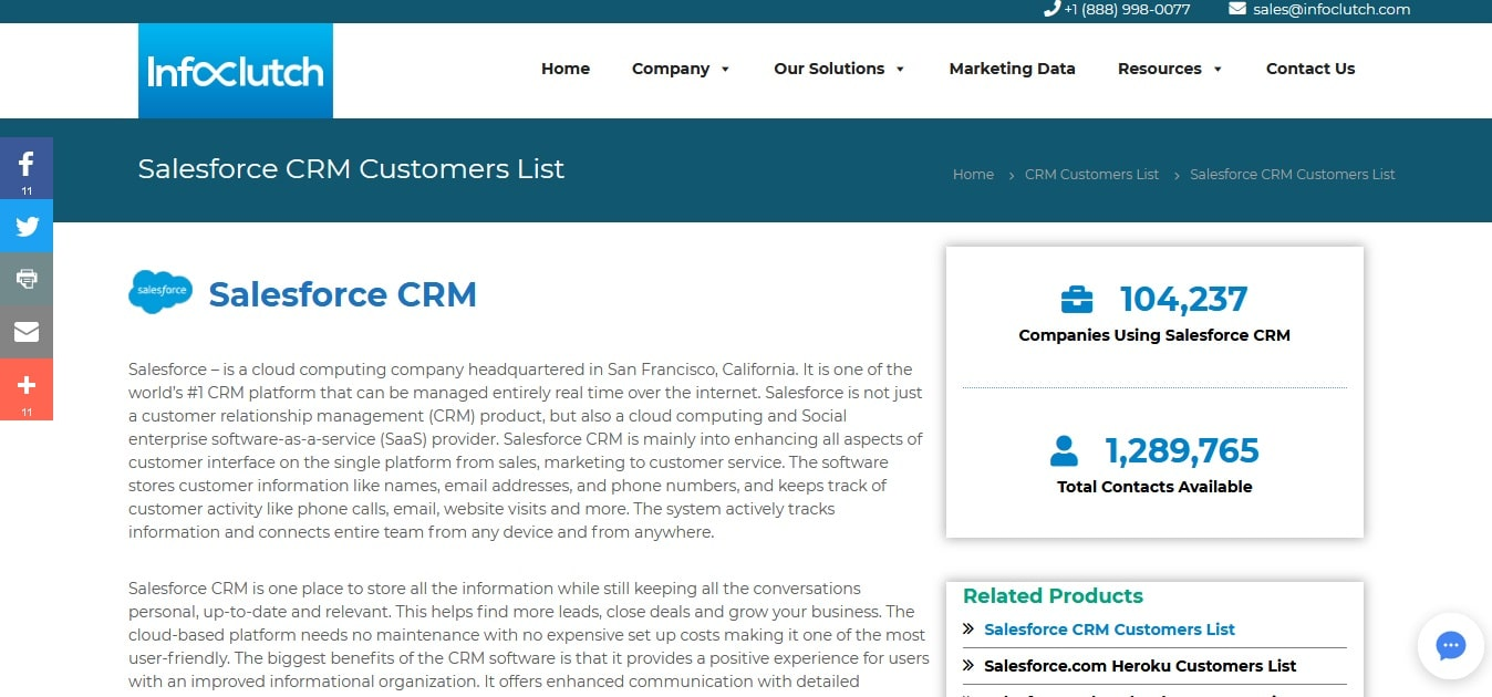 Buy Custom-Built Salesforce Customers List