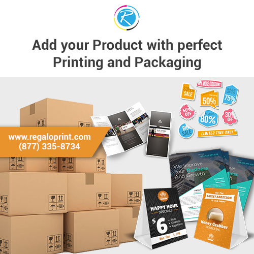 Add Your Product With Perfect Printing and Packaging