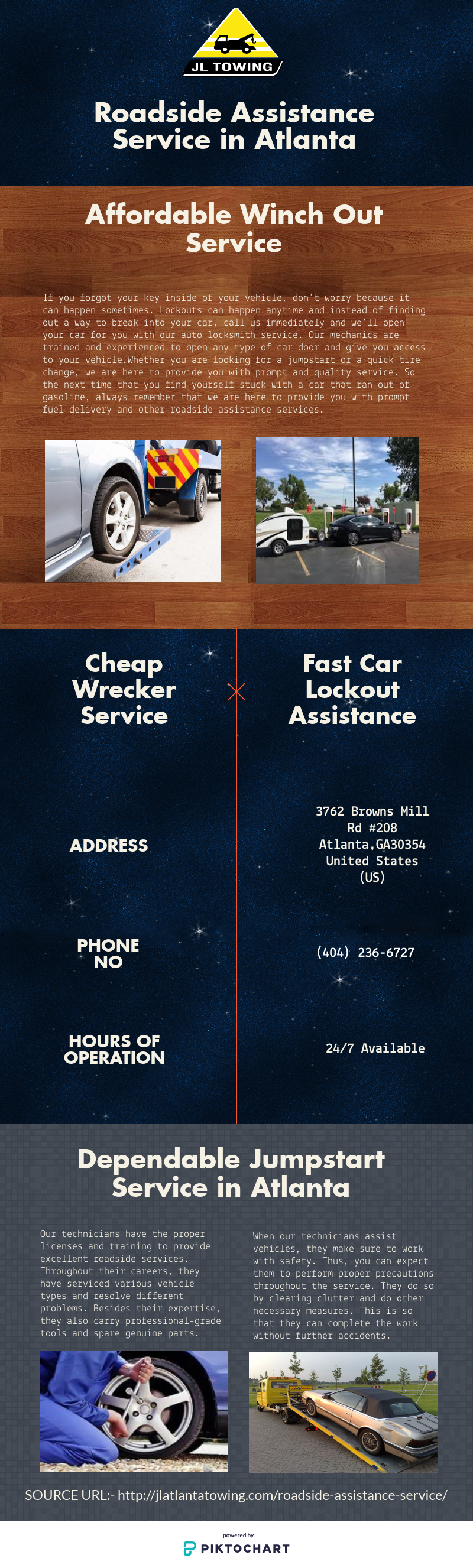 Roadside assistance service Atlanta | jlatlantatowing