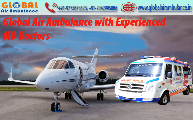 Global Air Ambulance Service in Mumbai with all the Emergency Setups