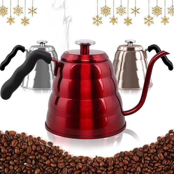 Stainless Steel Pour Over Coffee Kettle with Built-in Thermometer with 10% off Amazon Coupon