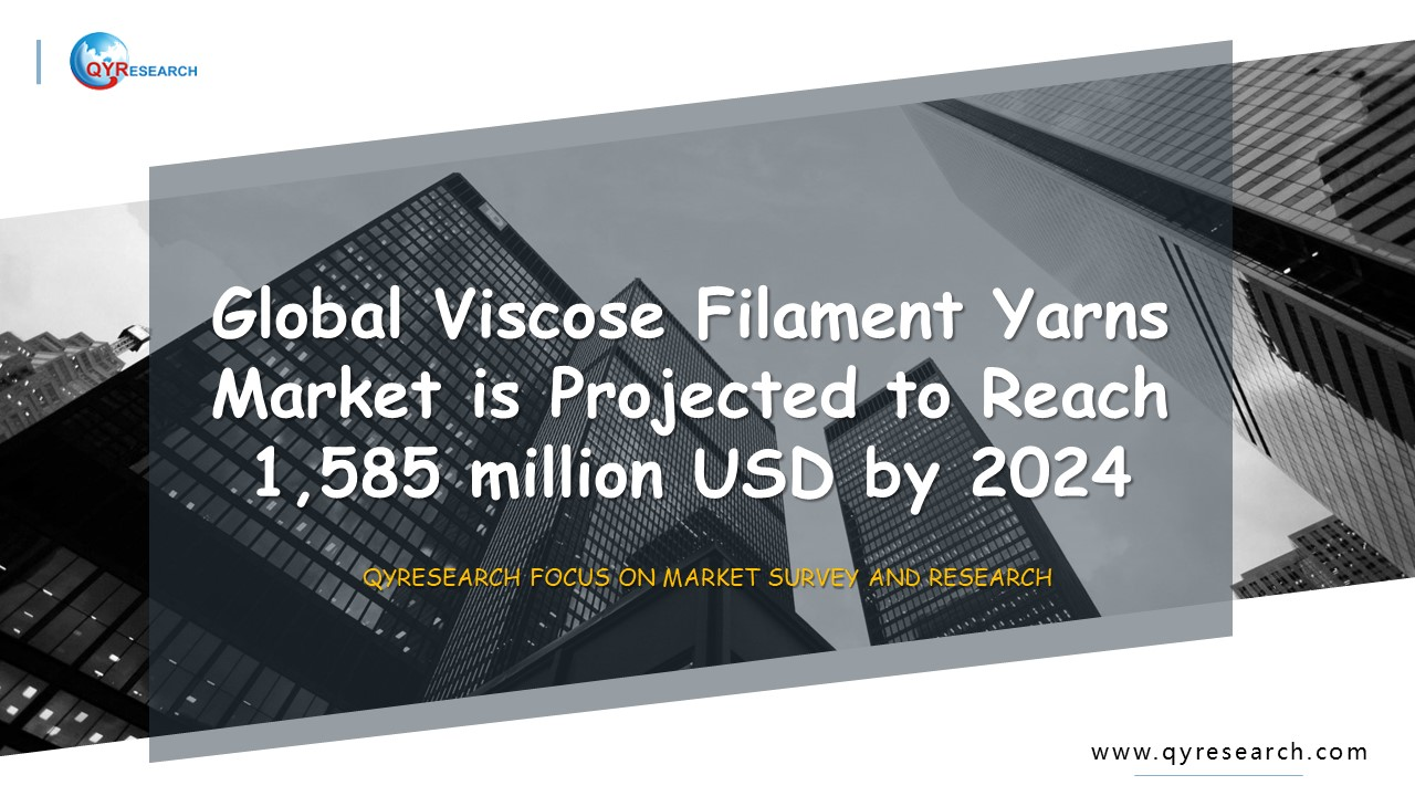 Global Viscose Filament Yarns Market is Projected to Reach 1,585 million USD by 2024