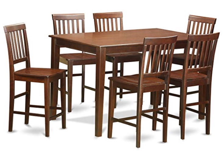 7-Piece Counter Height Dining Table Set