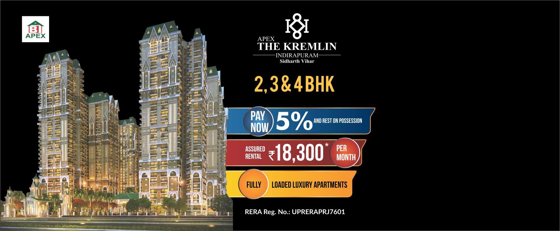 Apex The Kremlin Indrapuram for booking call us: +918010654321