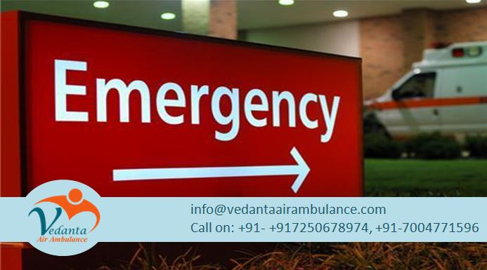 Vedanta Air Ambulance from Coimbatore at Lowest Service Charges
