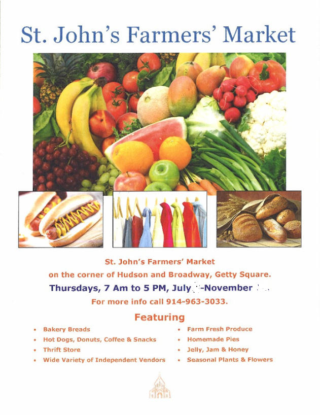 Come To St. John's Farmer's And Flea Market Each Thursday July 11th-November 21st, 2019
