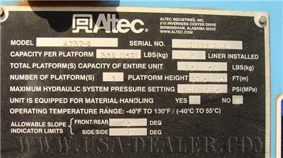 2011 ALTEC AT37G 4X4 BUCKET TRUCK