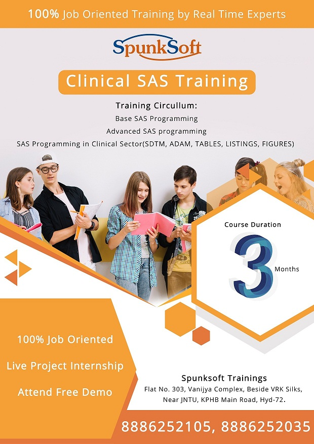 clinical sas training in hyderabad - Spunksoft Trainings