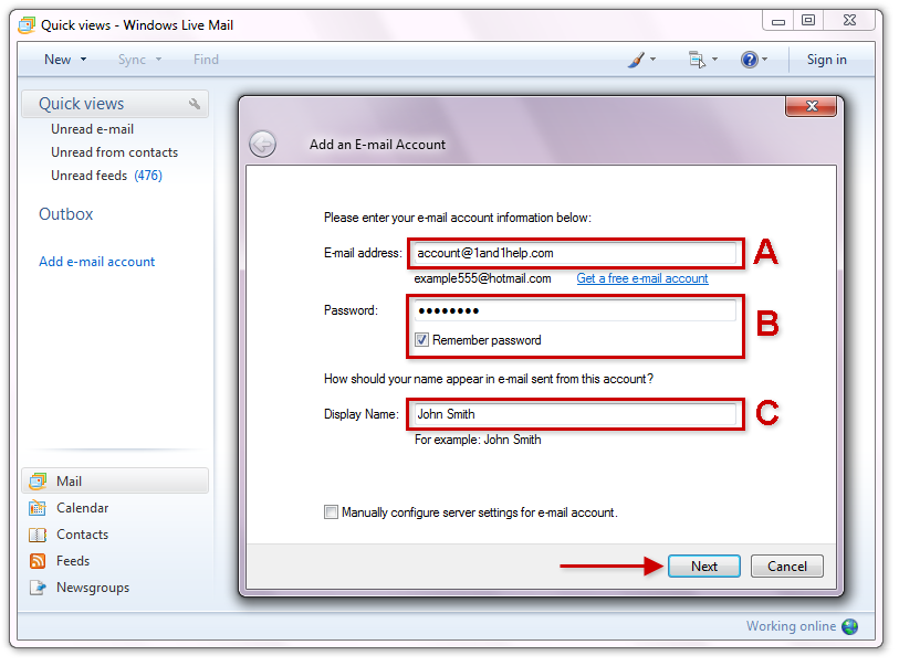 PennySaver | windows live mail settings for bellsouth net in New