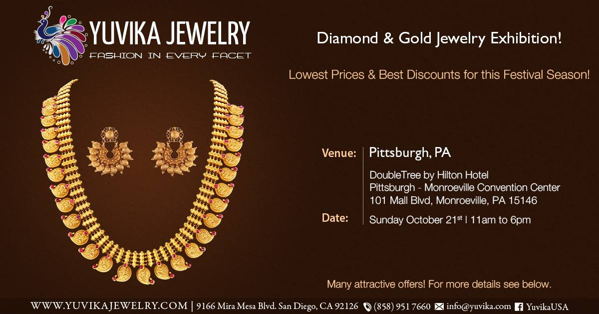 Yuvika Diamond & Gold Jewelry Exhibitions in Pittsburgh
