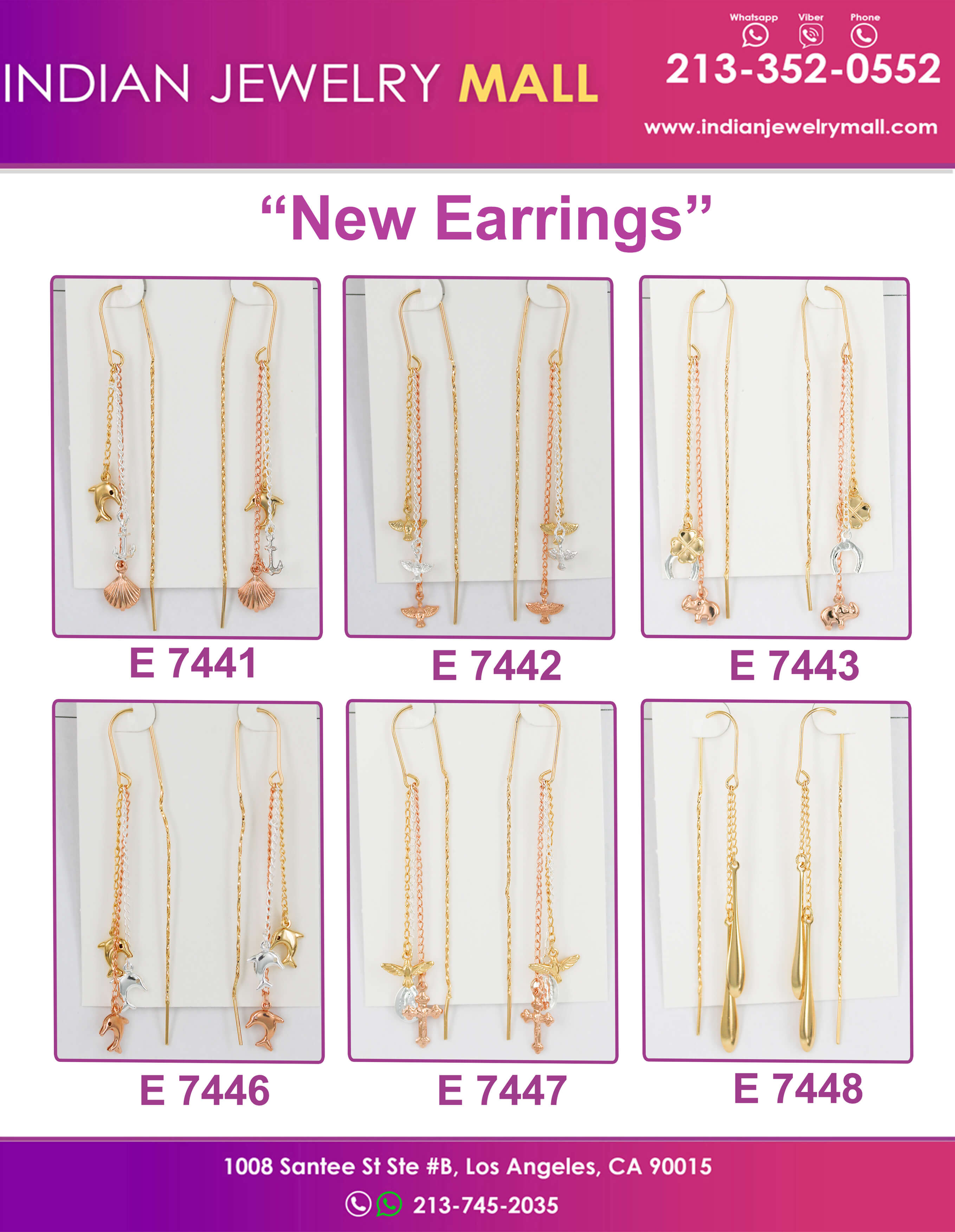 New Chain Violadores Earrings - Indian Jewelry Mall