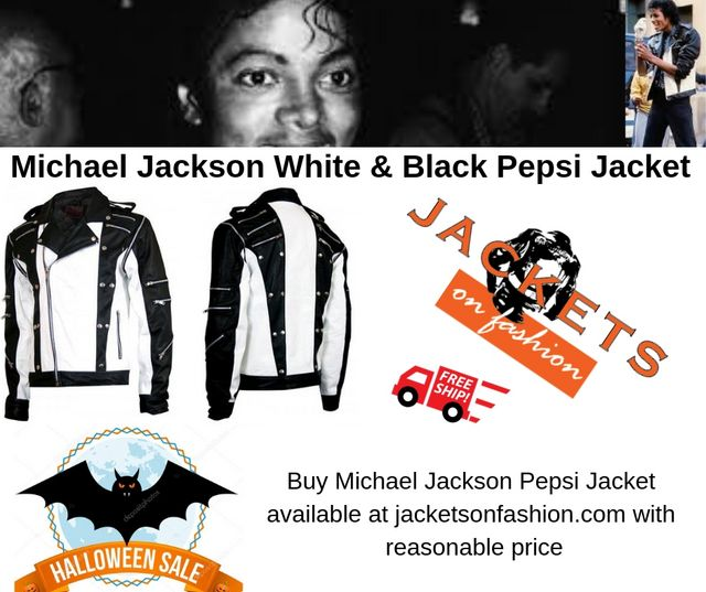 Michael Jackson White Black Pepsi Jacket