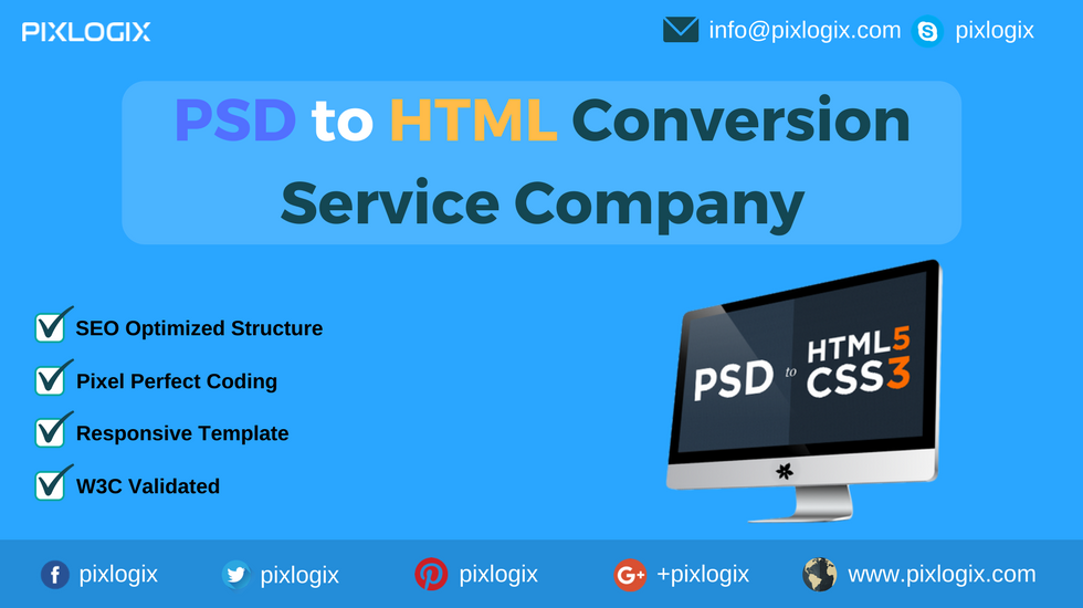 PSD to HTML Conversion | Convert PSD to HTML | PSD to HTML India