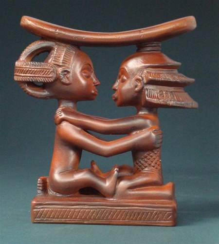 Luba Couple African Headrest for sale