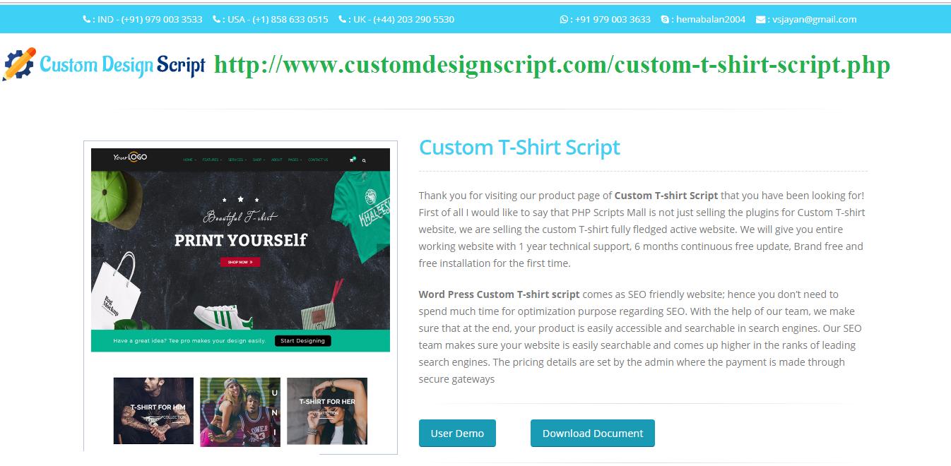 Pennysaver Online Custom T Shirt Design Script Open Source T