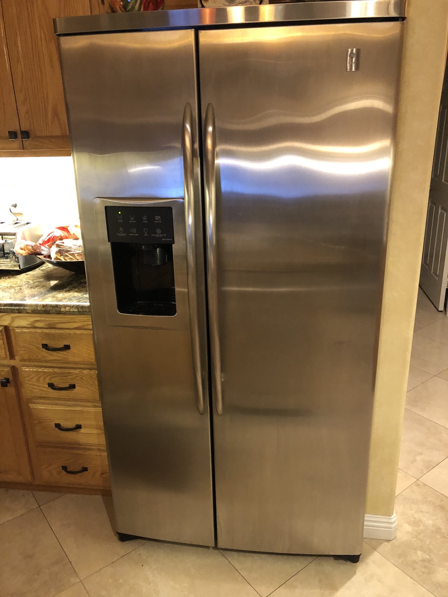 Refrigerator GE Profile 26 cu ft. Side by side
