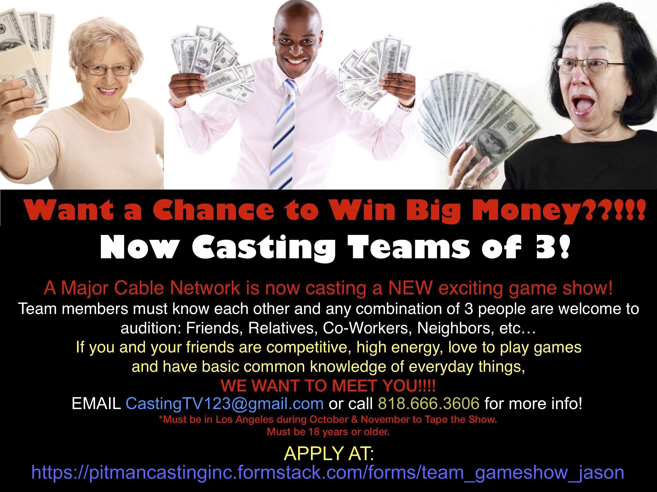 CASTING ALERT !! - NEW TRIVIA GAME SHOW