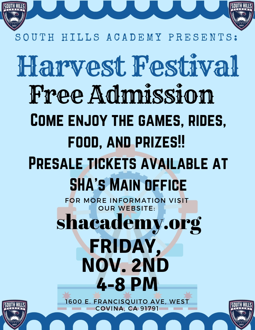 South Hills Academy's Harvest Festival - 11/2/2018 4pm-8pm
