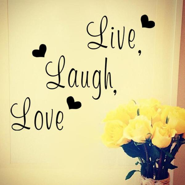 """Live laugh love"" Inspirational Quote Wall Sticker for Decoration"