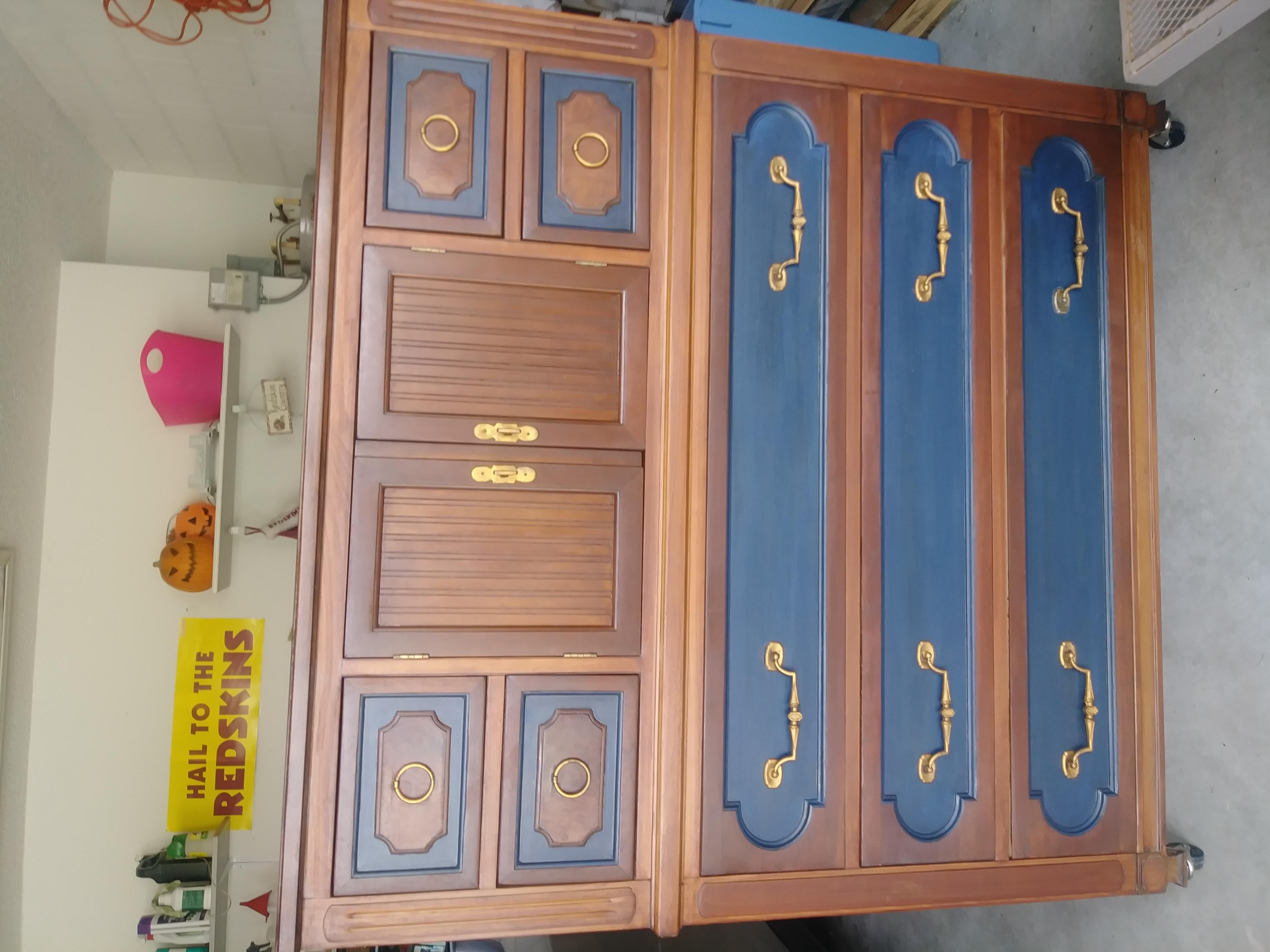 1920 solid oak dresser. Totally refinished