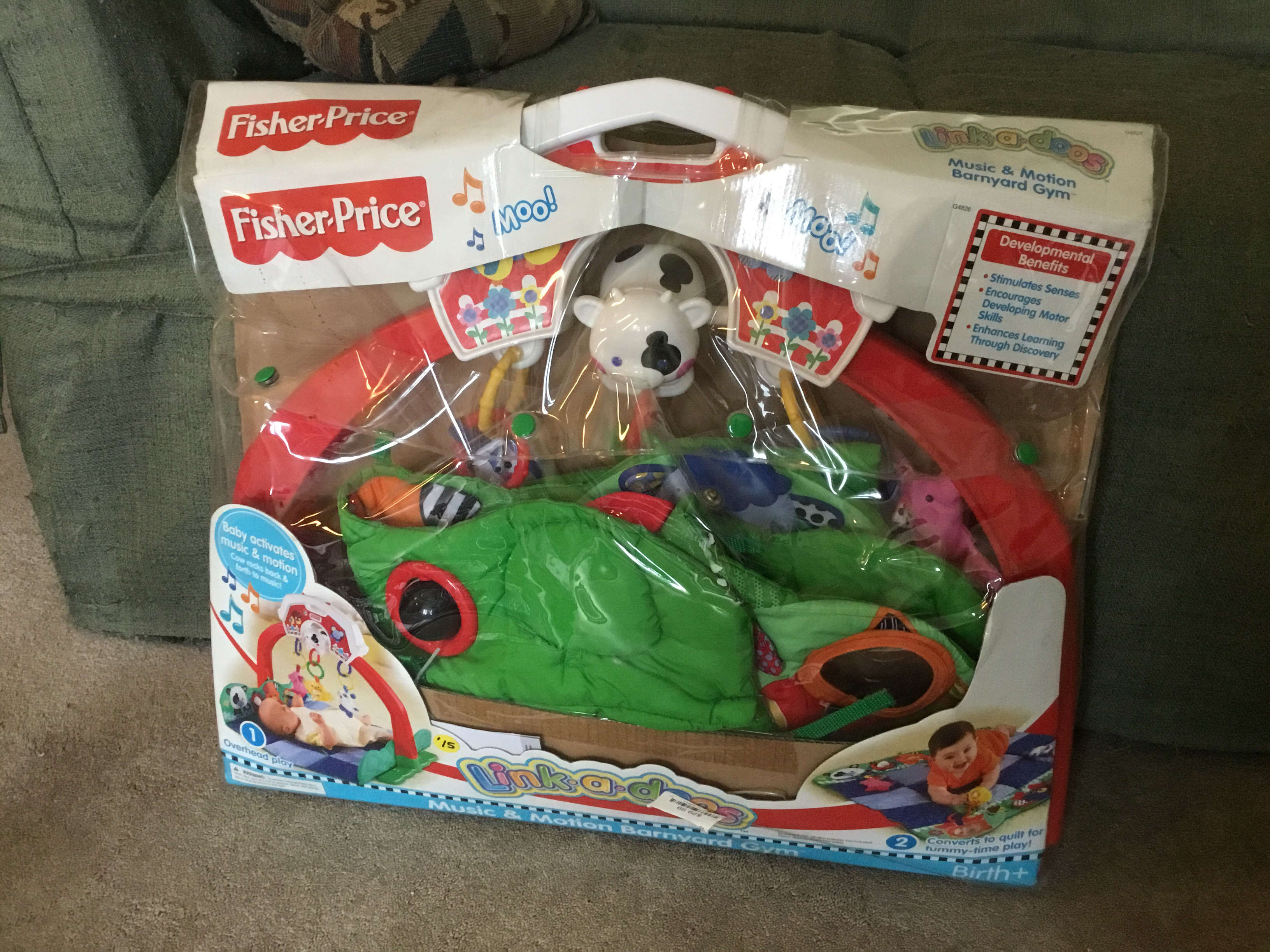 Fisher Price music and motion barnyard gym