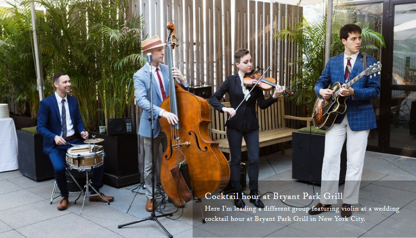 Hire The Grand Jazz band For Wedding Reception, Call On 646.359.6494