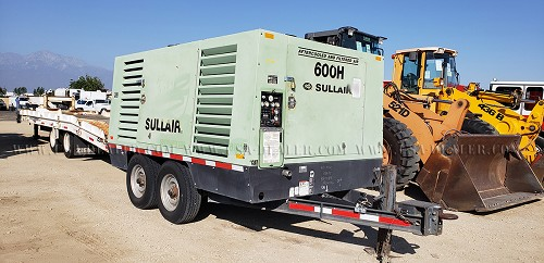 2010 SULLAIR 600HAFDT0 600 CFM AIR COMPRESSOR