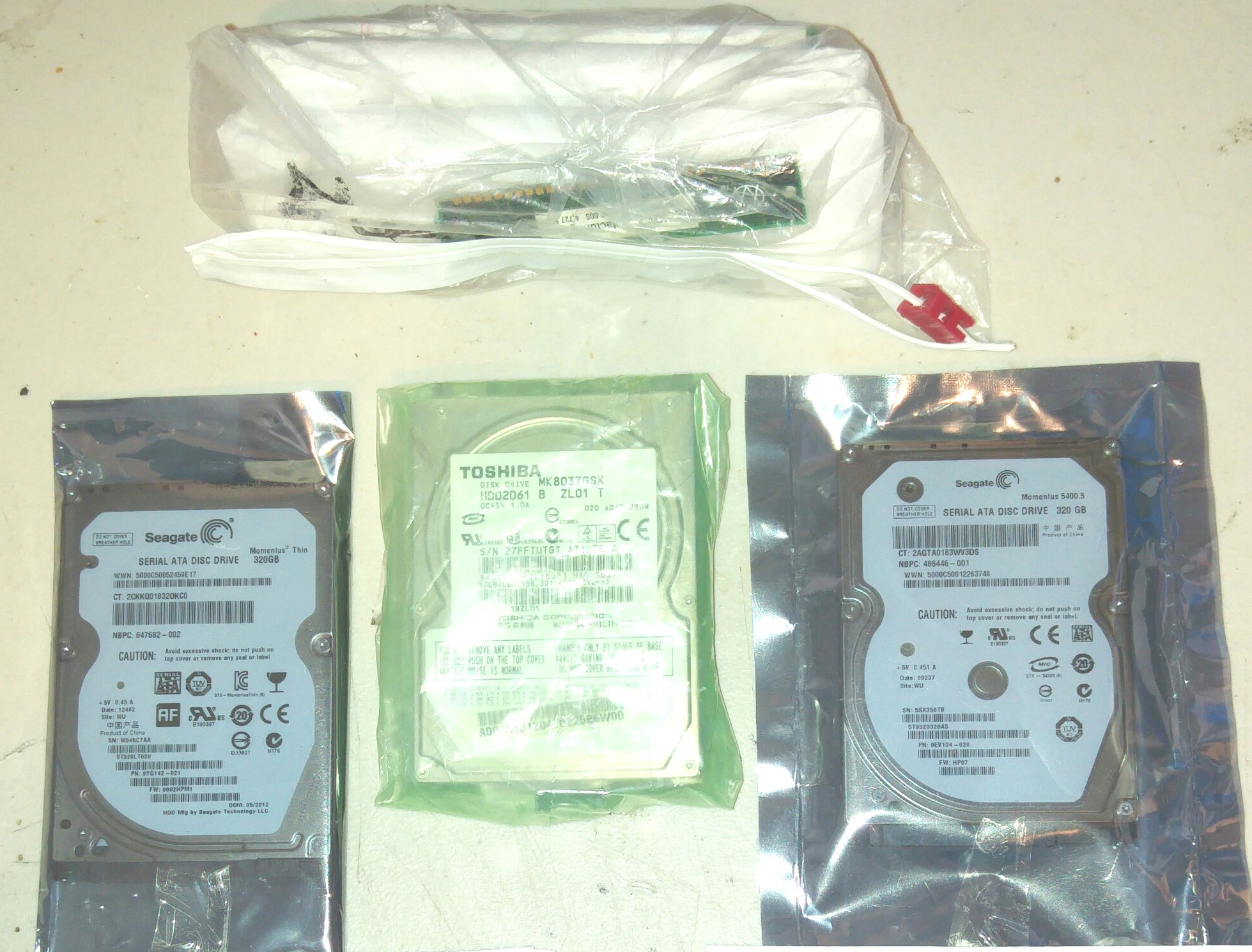3 Hard Drives and 15 assorted memory sticks - sell whole lot
