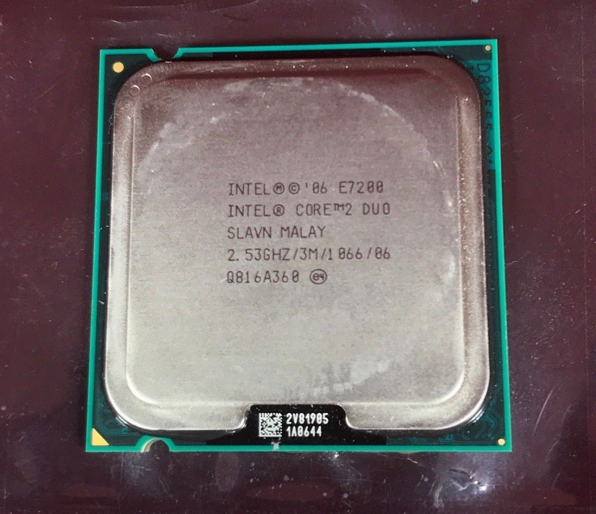 Intel Core 2 Duo - E7200 - 2.53GHz / 3M / 1066 / 20'06 - Desktop Computer CPU