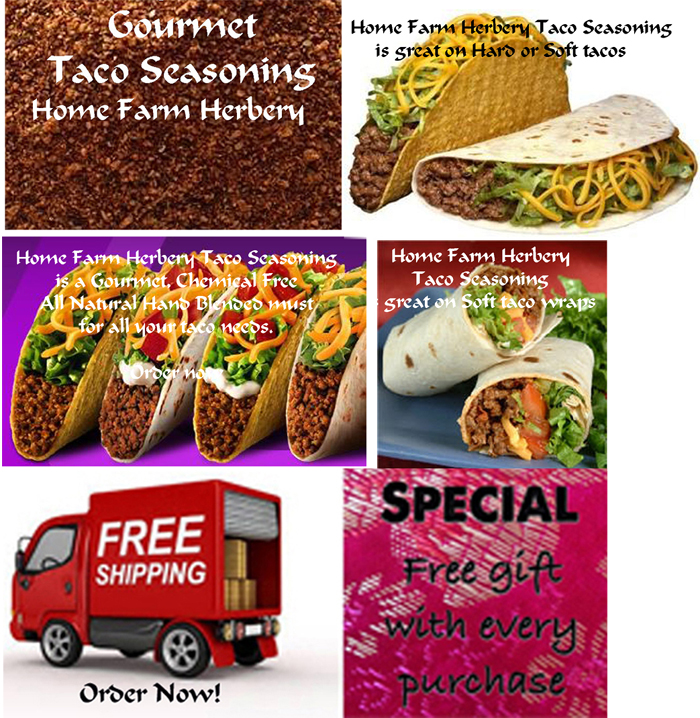 Authentic Taco Seasoning, Order now, FREE shipping, Free Gift Buy 3 get 1 FREE