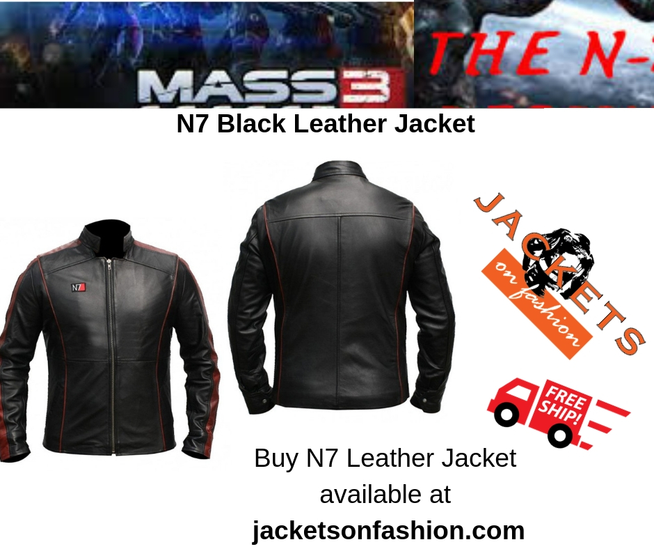 N7 Black Leather Jacket