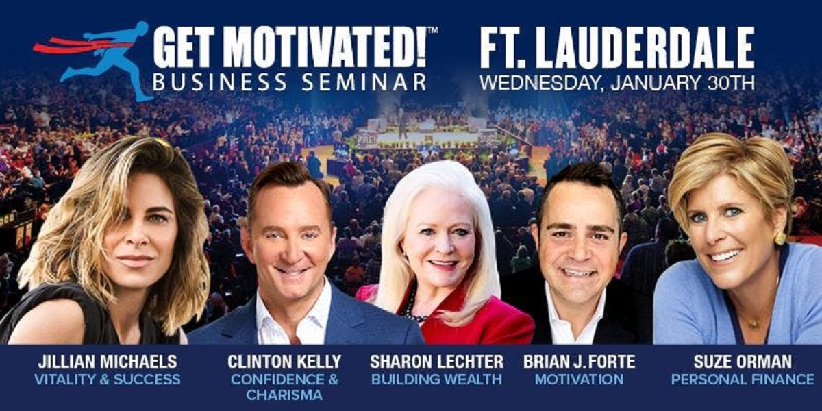 Suze Orman, Jillian Michaels and Clinton Kelly LIVE Ft Lauderdale