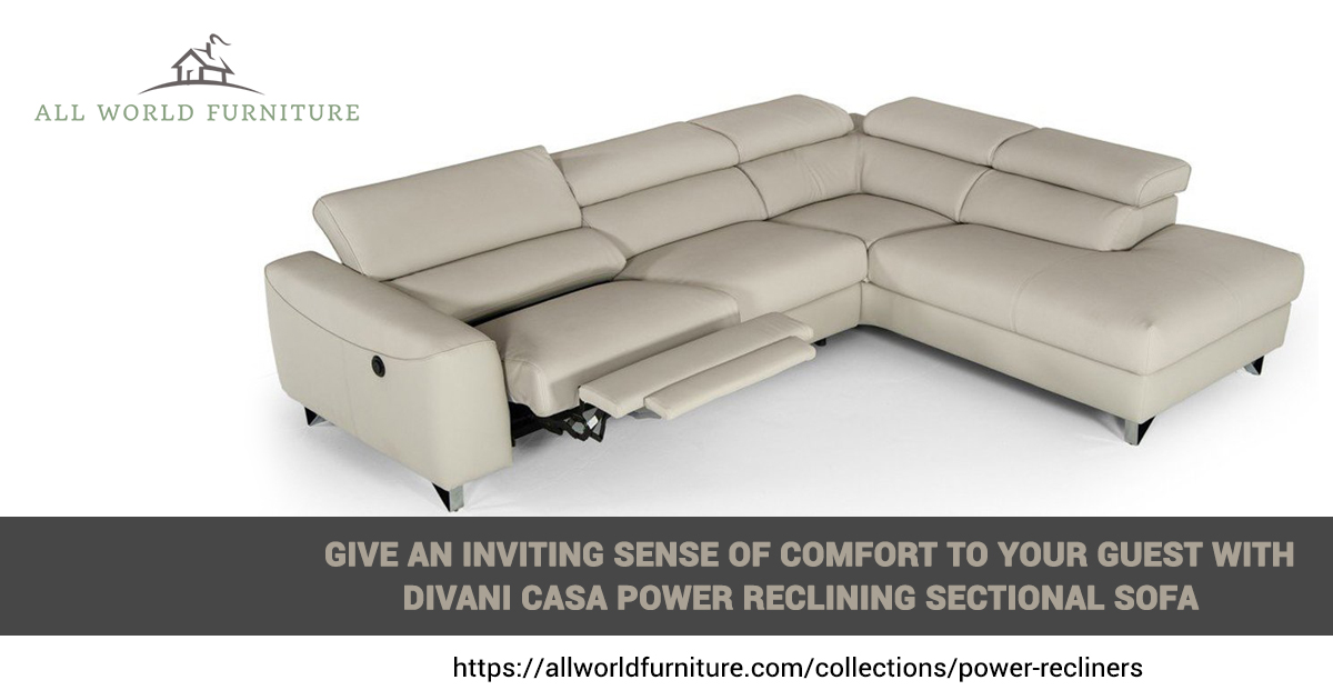 Divani Casa Grey Eco Leather Sectional on Sale w/ Upto 35% OFF | All World Furniture