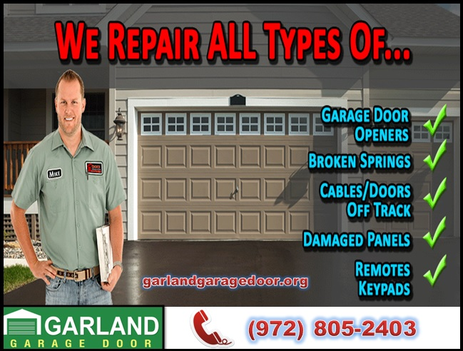 24/7 Residential Garage Door Spring Repair ($25.95) Garland, 75041 TX